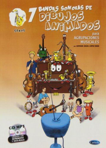 9788438711873: 7 Dibujos Animados - Saxos (Ensemble series)