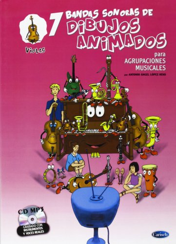 9788438711897: 7 Dibujos Animados - Violas (Ensemble series)