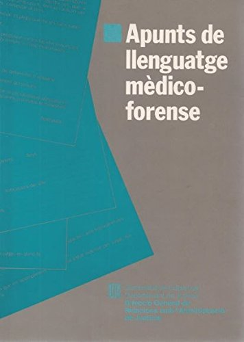 9788439317395: Apunts de llenguatge medicoforense