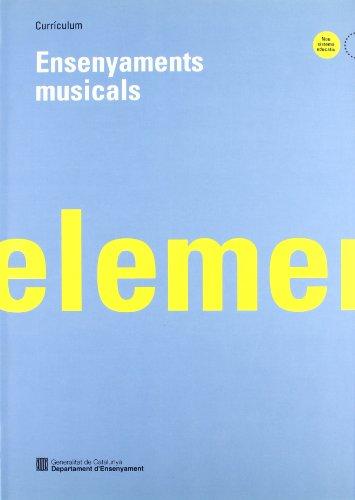 9788439328742: Currículum. Ensenyaments musicals elementals (Generalitat de catalunya)