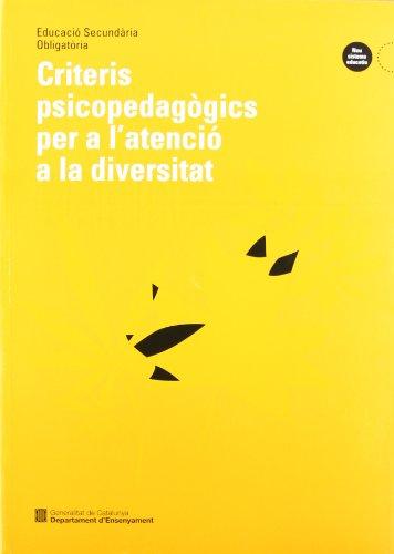 9788439344483: Criteris psicopedagògics per a l'atenció a la diversitat (Educació Secundària Obligatòria)