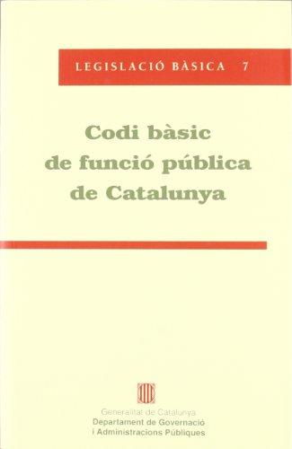 9788439362630: Codi bàsic de funcio publica de Catalunya