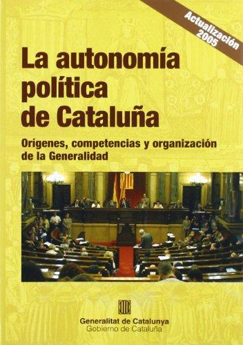 9788439368533: Autonomía política de Cataluña. Orígenes (Guies)