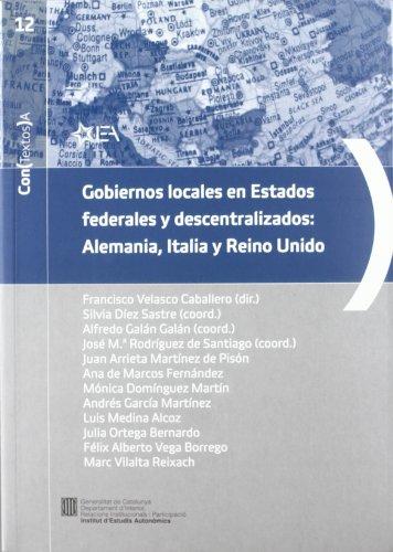 9788439383611: Gobiernos locales en Estados federales y descentralizados: Alemania (Con (Textos) A)