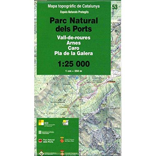 9788439389224: Mapa topogr�fic de Catalunya 1:25 000. Espais Naturals Protegits. 53-PN dels Ports