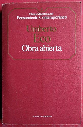 9788439500087: Obra abierta (Obras Maestras del Pensamiento Contemporaneo)