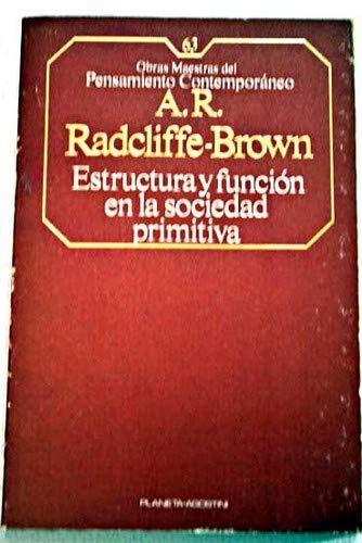 9788439501510: Estructura y función en la sociedad primitiva