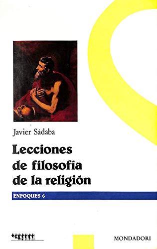 9788439714675: Lecciones de filosofia de la religion