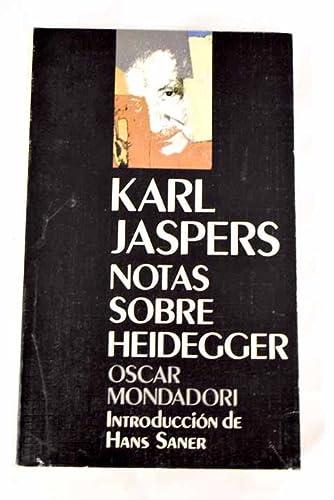 9788439717294: Notas sobre Martin Heidegger