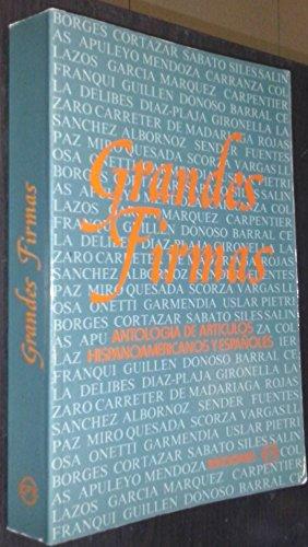 9788439891765: Grandes firmas: antología de artículos hispanoamericanos y españoles