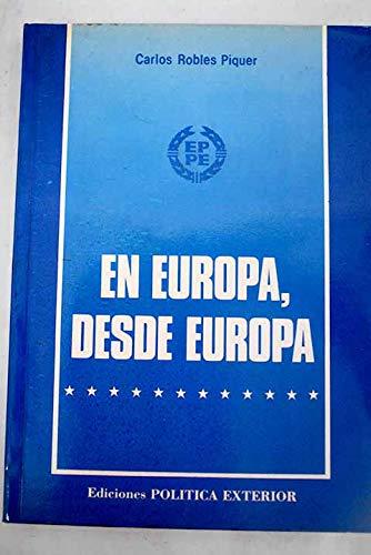 9788439895398: En Europa, desde Europa.