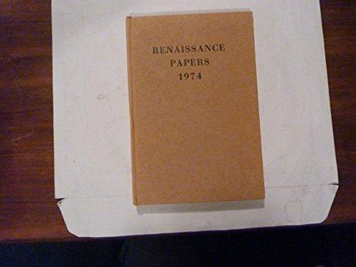 Renaissance Papers 1972 Samson Agonistes & Boethius;: Donovan, Dennis G.