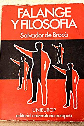 9788440013927: Falange y filosofia (Spanish Edition)