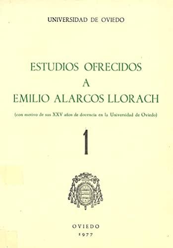 9788440028198: Estudios ofrecidos a Emilio Alarcos Llorach Tomo I