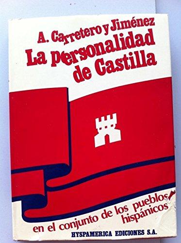 9788440037275: La personalidad de Castilla en el conjunto de los pueblos hispánicos