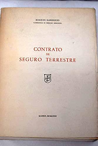 9788440058171: Contrato de seguro terrestre (Spanish Edition)