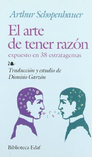 9788441400665: Arte De Tener Razon, El (Biblioteca Edaf)