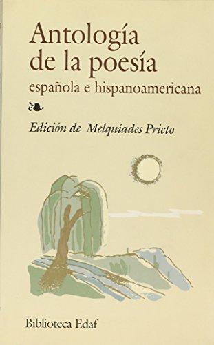 Antología de la poesía espanola e hispanoamericana