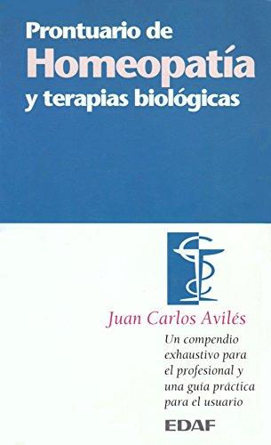 9788441410312: Prontuario de homeopatia y terapias biologicas (Mil Vias Hacia...)
