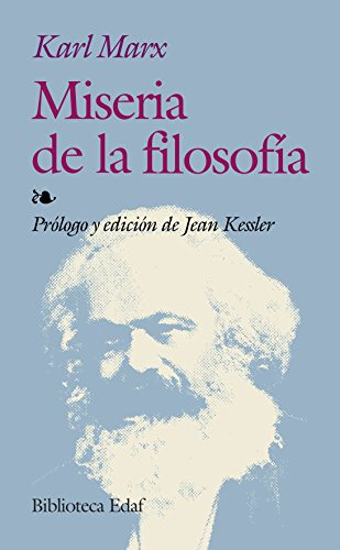 9788441414518: Miseria De La Filosofia (Biblioteca Edaf)