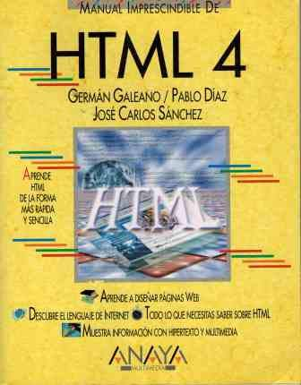 9788441510241: Html 4 - manual imprescindible - (Manuales Imprescindibles/ Essential Manuals)