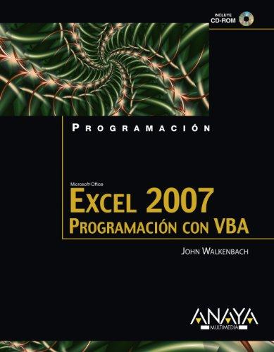 EXCEL 2007: PROGRAMACIÓN CON VBA (Libro + CD): Walkenbach, John