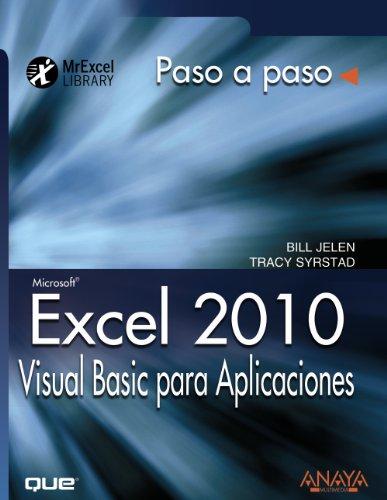 9788441528734: Excel 2010. Visual Basic para Aplicaciones (Paso A Paso)