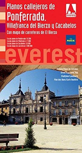Ponferrada, Villafranca y Cacabelos.Con mapa de Carreteras de El Bierzo: Plano
