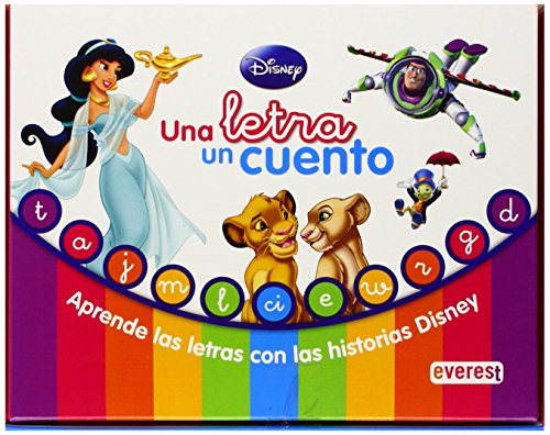 9788444147963: UNA LETRA UN CUENT.DISNEY EVEREST