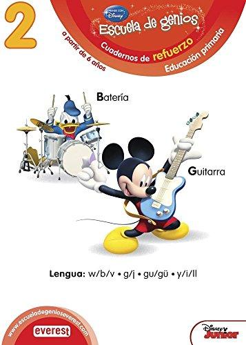 9788444151342: 2. Escuela de genios. Cuadernos de refuerzo. Educación Primaria. A partir de 6 años. Lengua: w/b/v, g/j, gu/gü, y/i/ll. - 9788444151342
