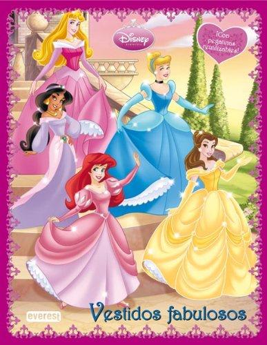 9788444161778: Princesas Disney. Vestidos Fabulosos. Libro de pegatinas reutilizables.