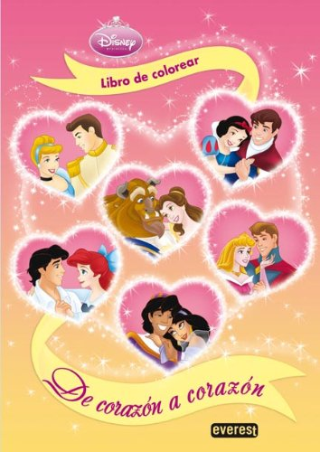 9788444161808: Princesas Disney. De corazón a corazón. Libro de colorear y actividades (Princesas Disney / Libros con pegatinas y actividades)
