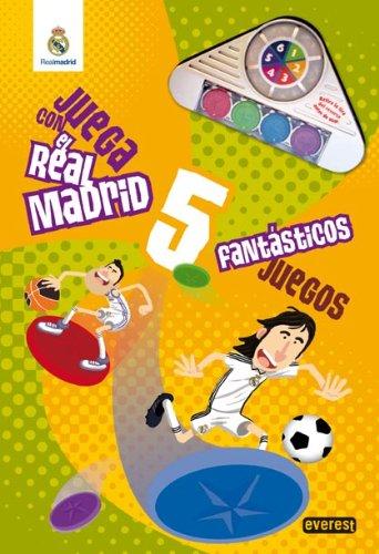 9788444163321: Juega con el Real Madrid. 5 fantásticos juegos. Libro de cartón gigante (Real Madrid / Libros singulares)
