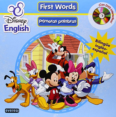 9788444166568: Disney English. First Words (Primeras palabras) + DVD: Bilingüe inglés-español. ¡Con DVD interactivo! (Singulares Disney English)