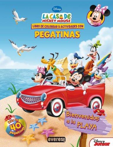 9788444168616: La Casa de Mickey Mouse. Bienvenidos a la playa. Libro de colorear y actividades con pegatinas (Libros de colorear y actividades Disney)