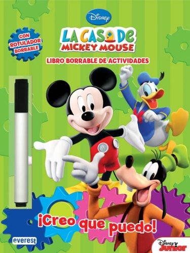 9788444168937: La Casa de Mickey Mouse. ¡Creo que puedo! Libro borrable de actividades: Con rotulador borrable (Libros singulares)