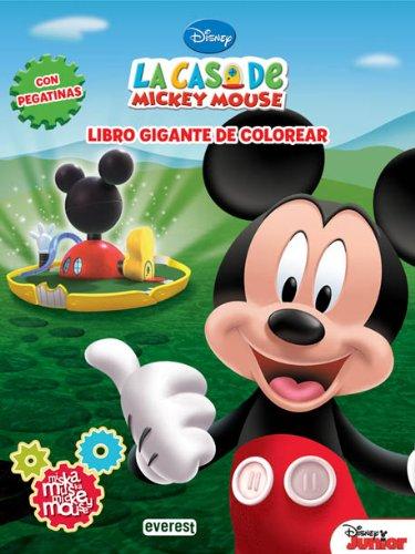 9788444168944: La Casa de Mickey Mouse. Miska, muska, Mickey Mouse. Libro gigante de colorear con pegatinas