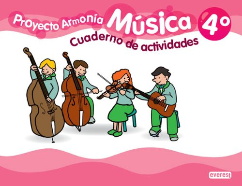 9788444174310: Música, 4º Primaria. Proyecto Armonía. Cuaderno de actividades