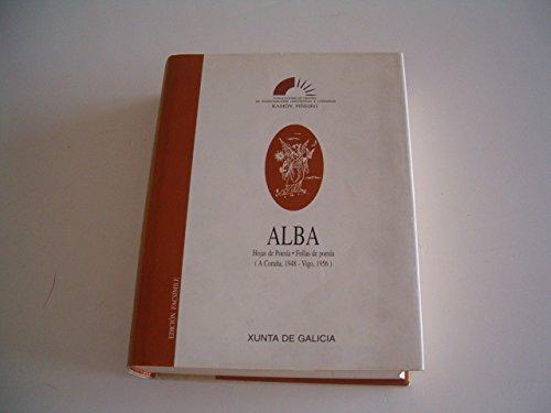 9788445313008: Alba. hojas de poesia. follas de poesia (Ramón Piñeiro)