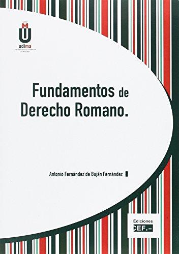 9788445418918: Fundamentos de Derecho Romano