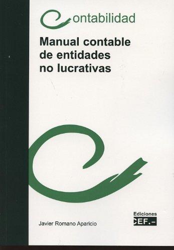 Manual contable de entidades no lucrativas: Javier Romano Aparicio
