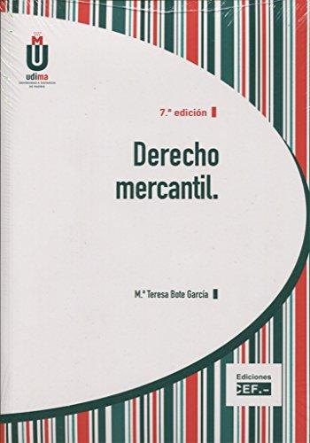 DERECHO MERCANTIL: BOTE GARCÍA, MARÍA