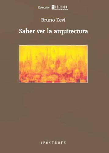 9788445500804: Saber Ver La Arquitectura
