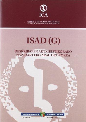 ISAD (G), deskribapen artxibistikorako nazioarteko arau orokorra: PAÍS VASCO. DEPARTAMENTO