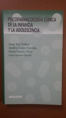 9788445807132: Psicofarmacologia Clinica de La Infancia y La Adol (Spanish Edition)