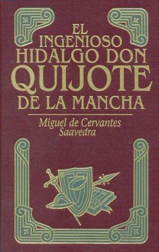 9788445903407: Don quijote de la mancha1 tomo.  piel.  estampaciones oro