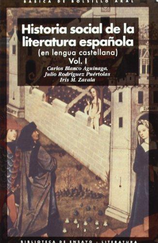 9788446012528: Historia social de la literatura espanola / Social History of Spanish Literature