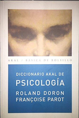 9788446012580: Diccionario Akal de Psicología (Básica de Bolsillo)