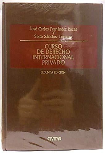 9788447002849: Curso de derecho internacional privado (2 edicion)