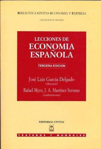 9788447009619: Lecciones de economia española